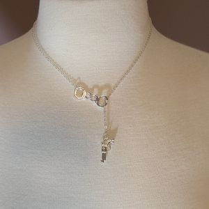 Handcuff Gun Necklace with Length Adjuster